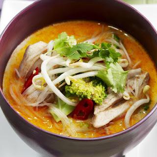 Spicy Coconut Chicken Soup.