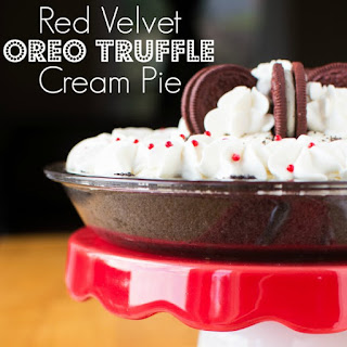 Red Velvet Oreo Truffle Cream Pie