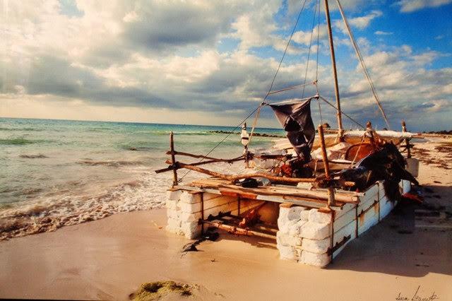 Cuban Refugee Raft by Susan Garrett