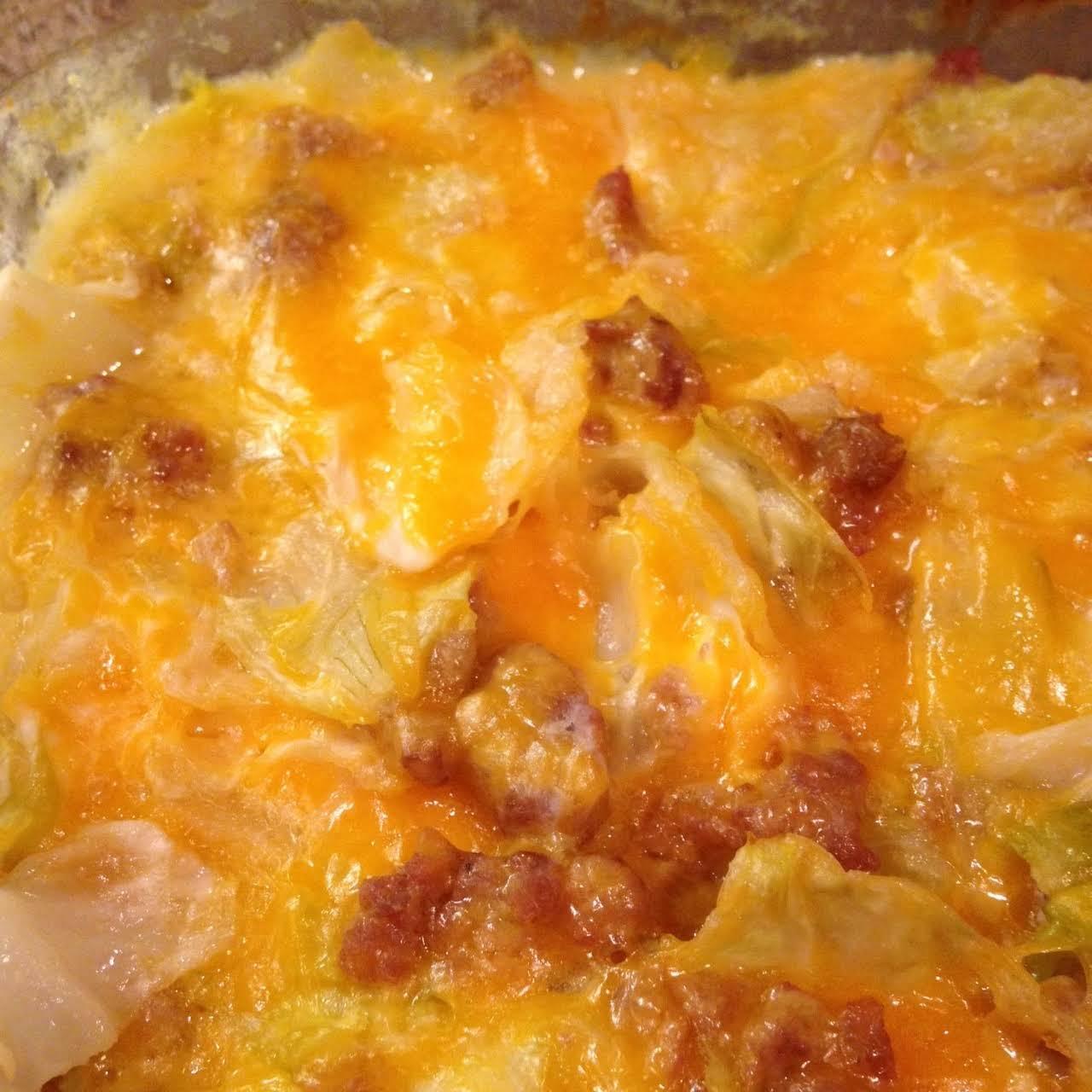 Creamy Cheesy Steamy Cabbage Casserole ~ S