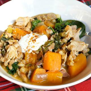 Kale Butternut Farro Soup