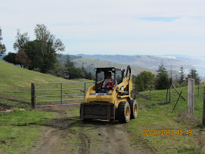 Photo: Quinn & Grandpa Bob playing on the skidsteer after school today. Can't beat the view!: