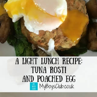 Tuna Rosti and Poached Egg.