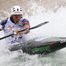 Wild Water by Tyler Wesfall by Igor Martinšek - Sports & Fitness Watersports ( slovenia, #icfslalom, canoe slalom world cup 2018, tacen,  )