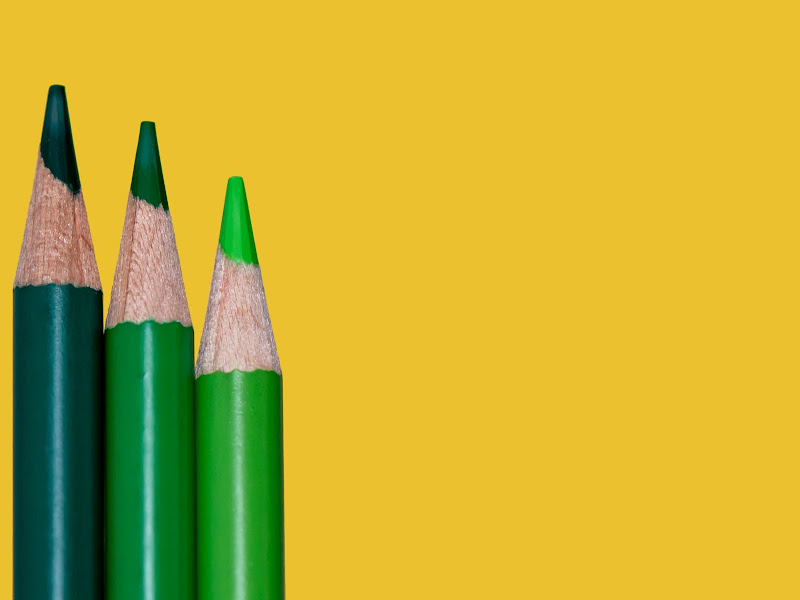pencils and yellow background di marymcc
