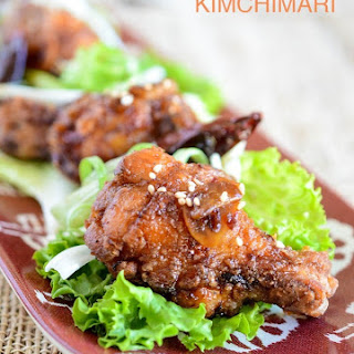 Korean Fried Chicken glazed with Sweet Garlic Soy Sauce (Dakgangjeong).