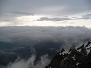 Photo: Mar de nubes sobre Chamonix y seguro que lluvia. Foto AH