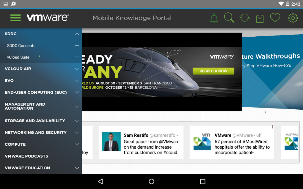 VMware Mobile Knowledge Portal- screenshot