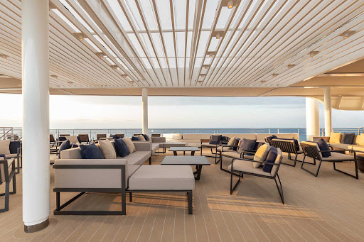A look at the upper deck of the luxury expedition ship Silver Origin.