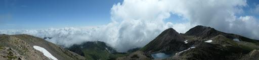 大汝峰からパノラマ