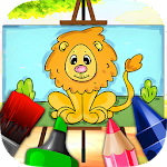 Animals Coloring Book for Kids Icon
