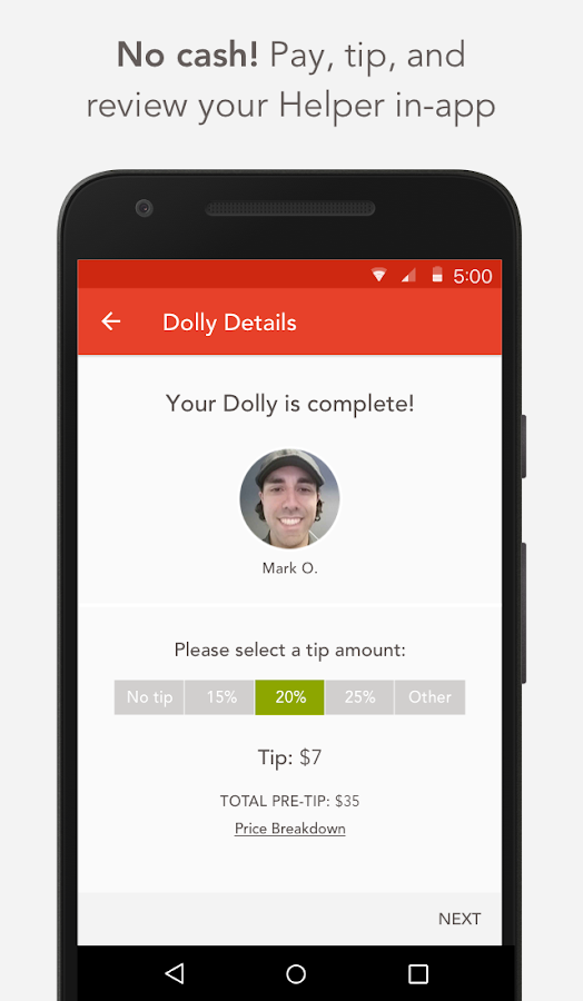 Dolly: On-Demand Local Movers- screenshot