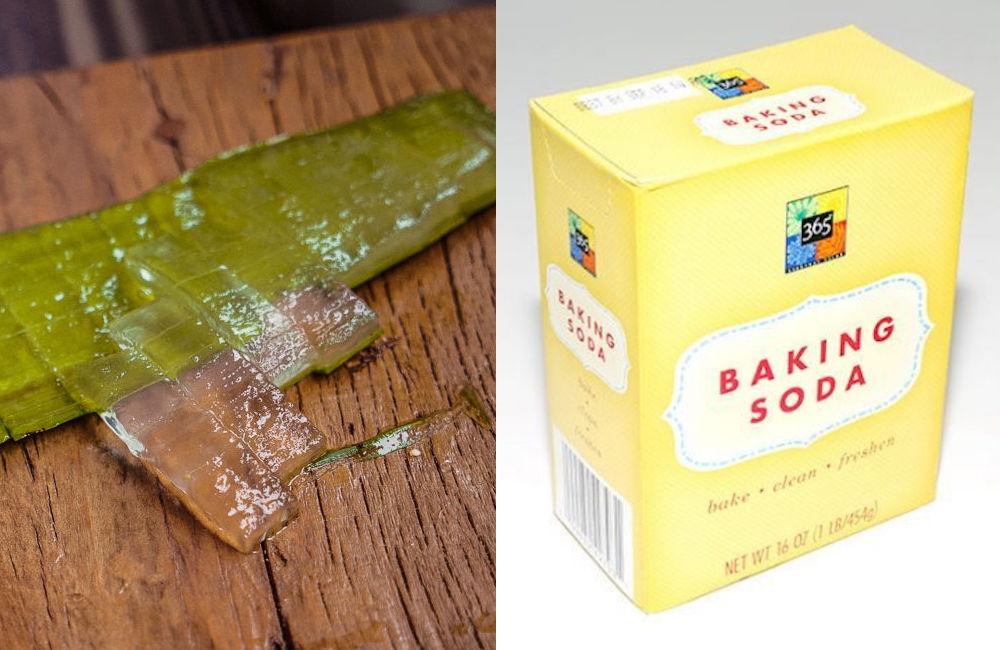 Baking soda và nha đam