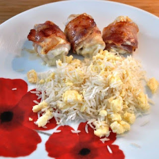 Cheese & Pancetta Chicken Rolls with Eggy Rice
