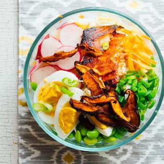 Meal Prep Wasabi Glazed Salmon Power Salads.