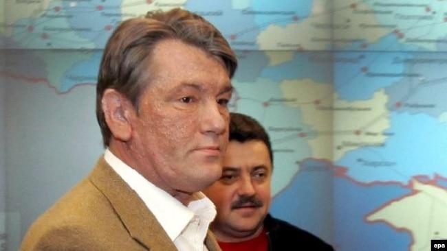 Бывший президент Украины Виктор Ющенко много лет имел на лице признаки отравления ТХДД (архивное фото)