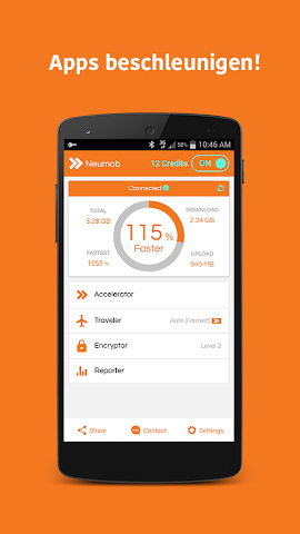 Screenshot 1 Neumob- Apps beschleunigen!