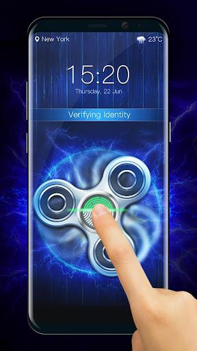 Fidget spinner fingerprint lock screen for prank screenshot