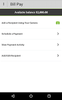 Screenshot of Higher One Mobile Banking App