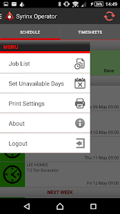 Syrinx Operator App - náhled