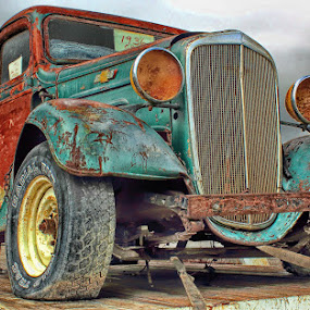 ~rusty beater~ by Kirk Kimble - Transportation Automobiles ( old, pickup, truck, vintage, chevrolet, chevy )