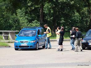 """Photo: Filmaufnahmen für """"Achtung Kontrolle"""" ?!  an der Raststätte Aggertal Nord. Fotografiert von Aggertal Süd :-)"""