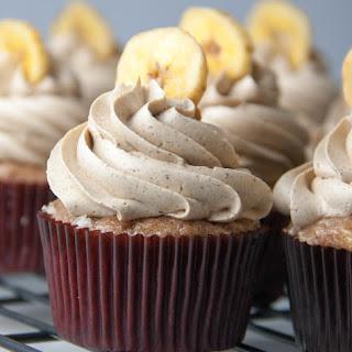 Banana Cupcakes with Brown Sugar Cinnamon Swiss Meringue Buttercream