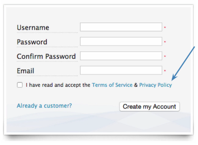 Form Assembly Clickwrap Tick Box Web Form
