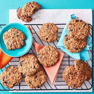 Chewy Oat And Raisin Cookies.