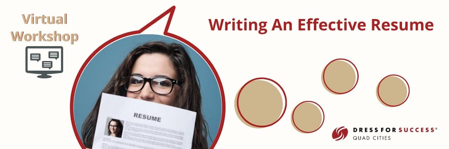 Virtual Workshop: Writing An Effective Resume