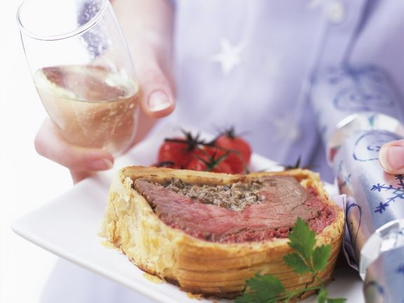 Slice of Beef Wellington Recipe
