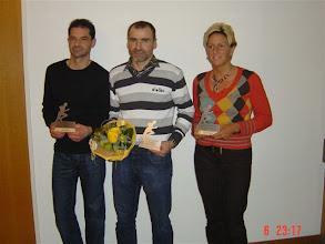 Photo: Geländelaufmeisterschaft 2008 2. Rang Heinz Zosso, 1. Rang Emil Berger, 3. Rang Therese Scheidegger