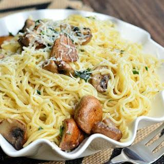 Truffle Oil Pasta and Mushrooms