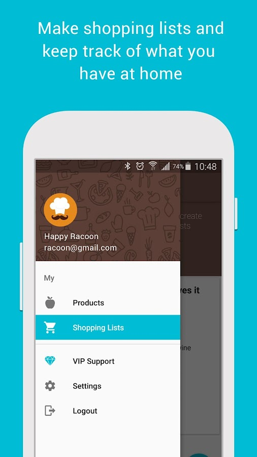 Smart Shopping List - Fooder- screenshot