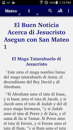 Chavacano - Bible 5.6 screenshots 1