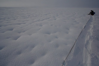 Photo: Tomek cant belive how he can lost his way on Seward Glacier.