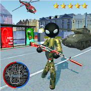 Hero Stickman Rope US Army - FPS Spider Shooter