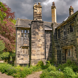 Oakwell Hall by Darrell Evans - Buildings & Architecture Public & Historical ( yorkshire, old, flora, historical, heritage, history, windows, building, stone, manor house, outdoor, oakwell hall, grass, elizabethan, no people, architecture )