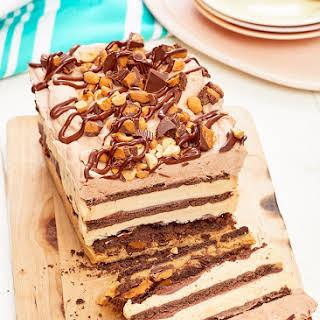 Peanut Butter Chocolate Icebox Cake.