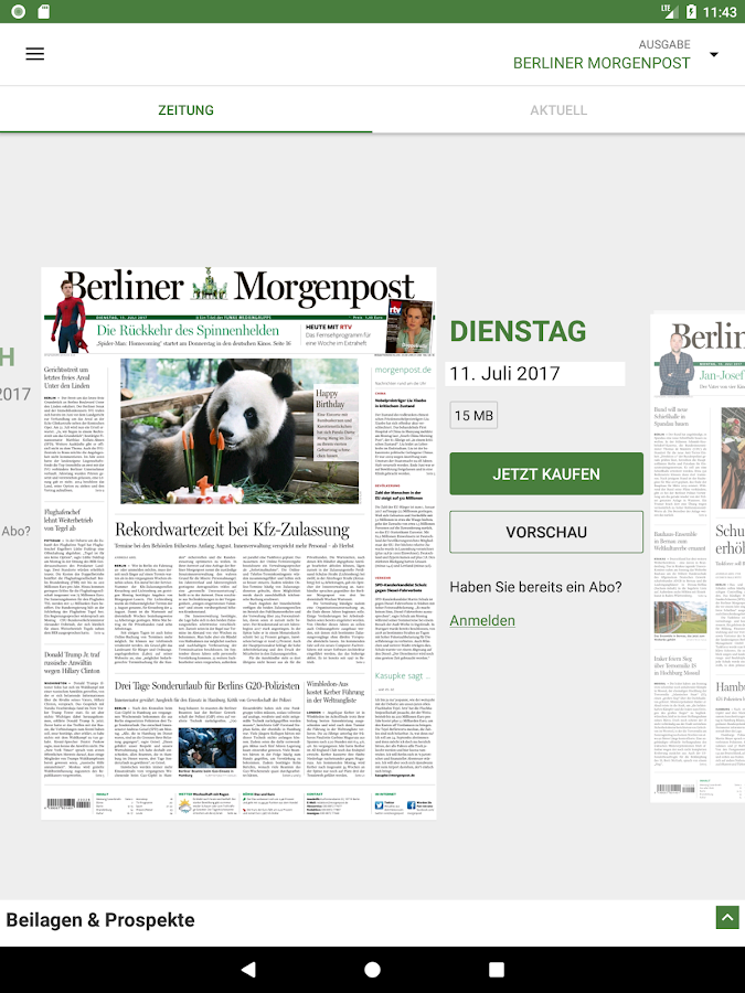 Berliner Morgenpost – Screenshot