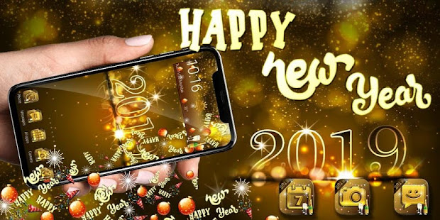 new year celebration gravity theme provides you with gravity sensor wallpapers characteristic special screen and
