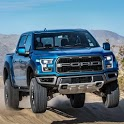 Off Road SUV Ford F150 Parking Area icon
