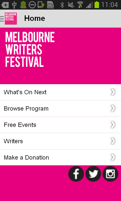 Melbourne Writers Festival- screenshot
