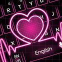 Neon Pink Love Heart Keyboard icon