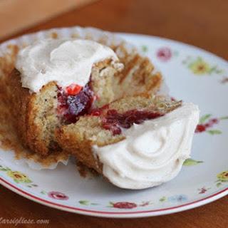 Strawberry-Stuffed Cinnamon Cupcakes