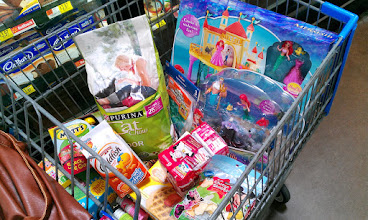 Photo: Well, my cart is pretty full. I've got snacks for school and goodies for our playdate. Luckily there are plenty of cashiers to help with my check out today. Time to check out and get home to get ready for our playdate!