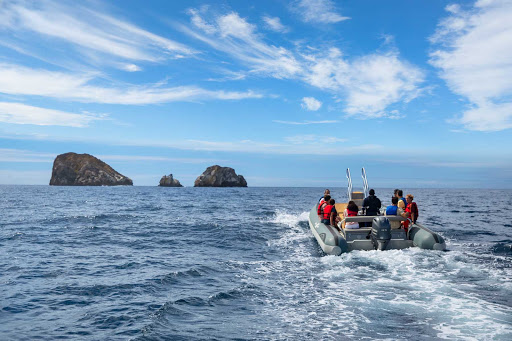 Step into a Zodiac to begin your exploration of the Galapagos. Just remember to leave the place untouched.