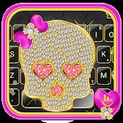 Diamond Bowknot Skull Keyboard Theme