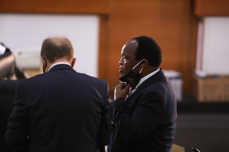 Former president Jacob Zuma's lawyer, Muzi Sikhakhane, at the state capture inquiry on November 16 2020.