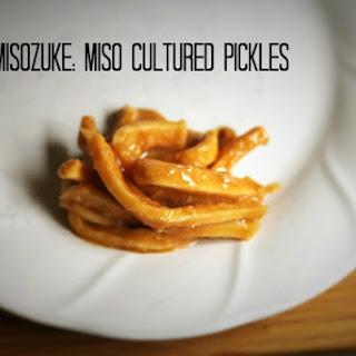 Misozuke – Miso Cultured Pickles